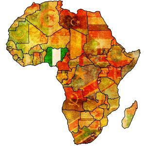 Nigeria on Actual Map of Africa by michal812
