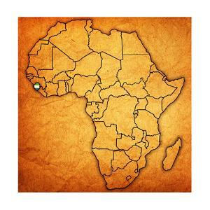 Sierra Leone on Actual Map of Africa by michal812