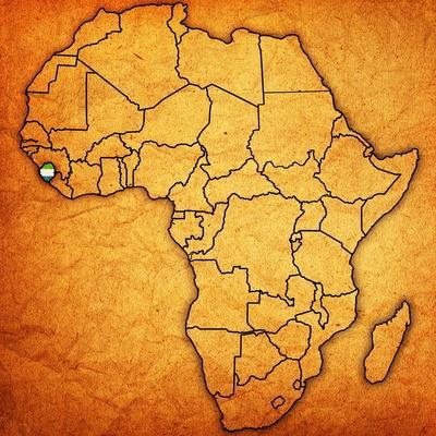 Sierra Leone on Actual Map of Africa