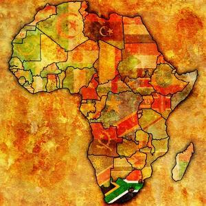South Africa on Actual Map of Africa by michal812