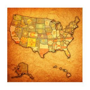 States On Map Of Usa by michal812