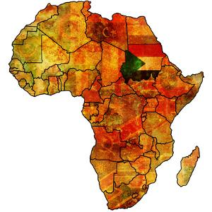 Sudan on Actual Map of Africa by michal812