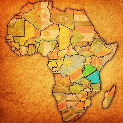 Tanzania on Actual Map of Africa