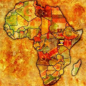 Uganda on Actual Map of Africa by michal812