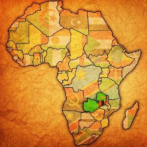 Zambia on Actual Map of Africa by michal812