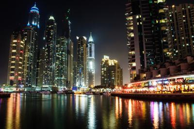 Dubai Marina at Night by michalkardos