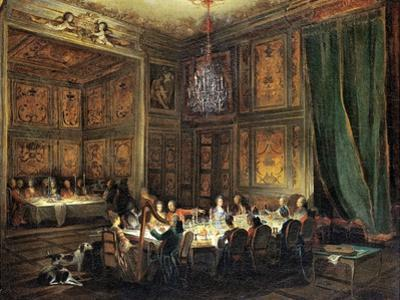 Dinner of the Prince of Conti (1717-76) in the Temple, 1766