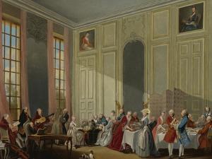 Mozart Giving a Concert in the Salon Des Quatre-Glaces at the Palais Du Temple by Michel Barthélemy Ollivier