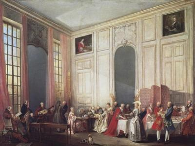 Tea at the Temple in the Salon of Four Mirrors in Prince Conti's Home by Michel Barthélémy Ollivier
