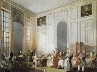 The Young Mozart at the Clavichord at the House of Prince Conti by Michel Barthélémy Ollivier