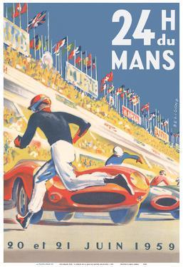 1959 Grand Prix - 24 hours of Le Mans France - Endurance Racing by Michel Beligond