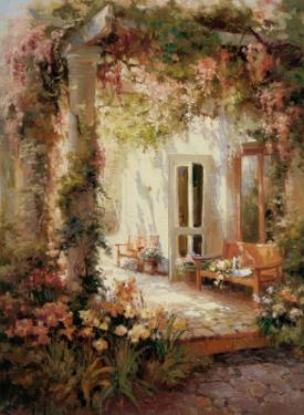 Sunlit Terrace by Michel Brevard