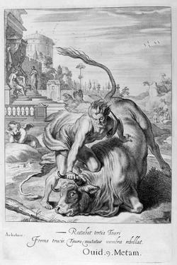 Achelous in the Shape of a Bull Is Vanquished by Hercules, 1655 by Michel de Marolles