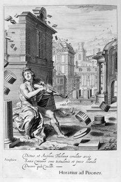 Amphion Builds the Walls of Thebes by the Music of His Violin, 1655 by Michel de Marolles