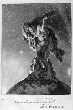 Atlas Supports the Heavens on His Shoulders, 1655 by Michel de Marolles