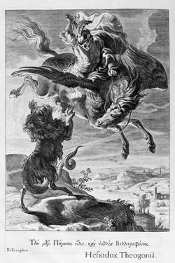 Bellerophon Fights the Chimera, 1655 by Michel de Marolles