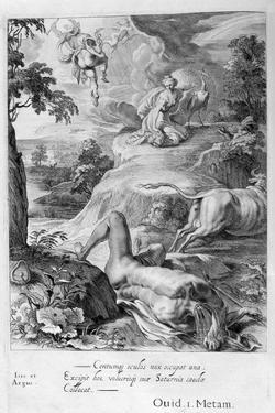 Io Changed into a Cow: Mercury Cuts Off Argus' Head, 1655 by Michel de Marolles