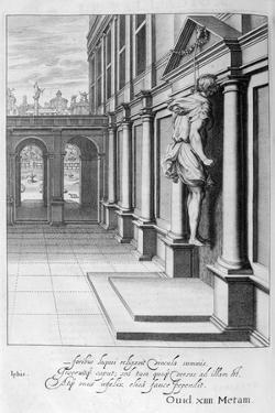 Iphis Hangs Himself in Despair That He Could Not Gain Anaxarete, 1655 by Michel de Marolles