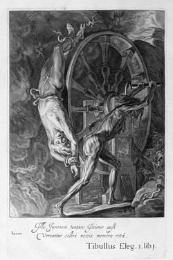 Ixion in Tartarus on the Wheel, 1655 by Michel de Marolles