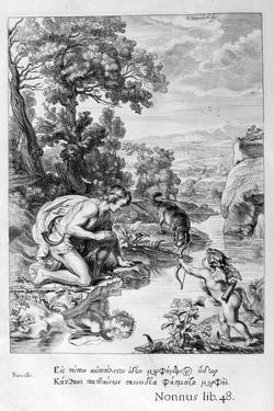 Narcissus in Love with His Own Reflection, 1655 by Michel de Marolles