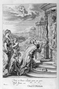 Oeneus, King of Calydon, Having Neglected Diana in a Sacrifice Is Punished for His Impiety, 1655 by Michel de Marolles