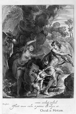 Orpheus, Leading Eurydice Out of Hell, Looks Back Upon Her and Loses Her Forever, 1655 by Michel de Marolles