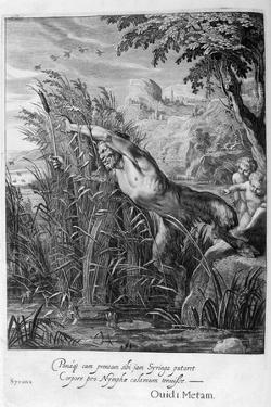 Pan Pursues Syrinx Who Is Transformed into a Reed, 1665 by Michel de Marolles