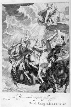 Phaeton Struck Down by Jupiter's Thunderbolt, 1655 by Michel de Marolles