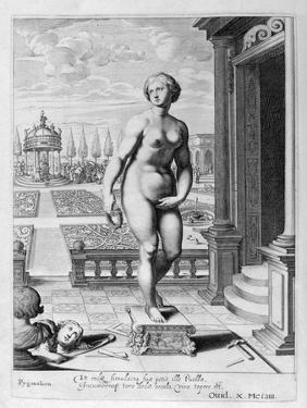 Pygmalion Is Enamoured with a Statue He Has Made, 1655 by Michel de Marolles