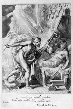 Semele Is Consumed by Jupiter's Fire, 1655 by Michel de Marolles