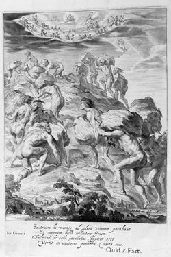 The Giants Attempt to Scale Heaven by Piling Mountains Upon One Another, 1655 by Michel de Marolles