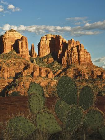 Cathedral Rock at Sunset from Secret Canyon, Sedona, Arizona, Usa