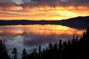 Crater Lake at Sunrise, Crater Lake National Park, Oregon, USA by Michel Hersen