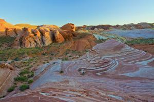 Fire Wave, sunset, Valley of Fire State Park, Nevada, USA by Michel Hersen