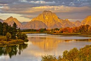 Golden Sunrise, Oxbow, Grand Teton National Park, Wyoming, USA by Michel Hersen