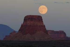 Harvest Moon over Tower Butte, Glen Canyon National Recreation Area, Page, Arizona by Michel Hersen