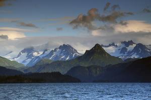 Kenai Mountains and Kachemak Bay, Homer, Alaska, USA, at Sunset by Michel Hersen