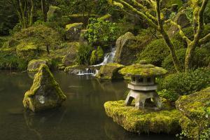Lower Pond in the Portland Japanese Garden, Portland, Oregon by Michel Hersen