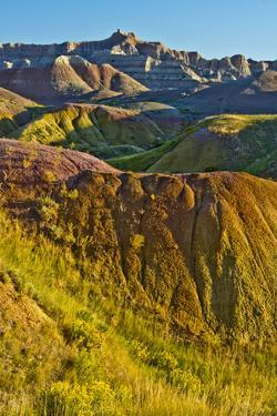 Painted Hills, Badlands Loop Trail, Badlands National Park, South Dakota, USA by Michel Hersen