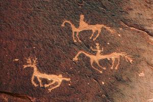 Petroglyph, Canyon De Chelly National Monument, Chinle, Arizona, USA by Michel Hersen