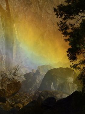 Rainbow, Lower Yosemite Falls, Yosemite National Park, California, USA by Michel Hersen