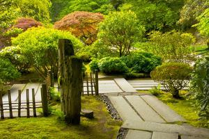 Strolling Garden, Portland Japanese Garden, Portland, Oregon, Usa by Michel Hersen