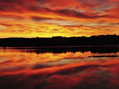 Sunrise on the New Meadows River, Brunswick, Maine, USA
