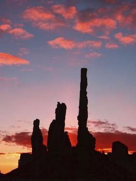 Sunrise, Yei Bi Chei and the Totem Pole, Monument Valley, Arizona by Michel Hersen