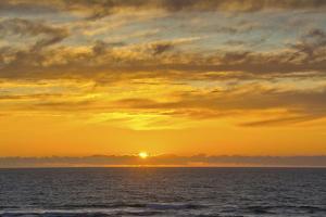 Sunset at Heceta Beach, Oregon Coast, Pacific Ocean, Oregon, USA by Michel Hersen