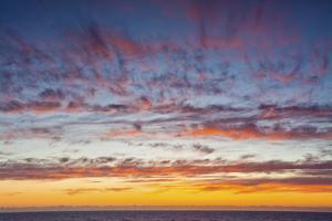 Sunset sky, ocean, Heceta Beach, Oregon Coast, Oregon, USA. by Michel Hersen