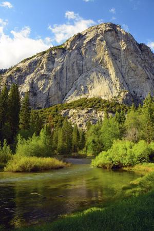 Zumwalt Meadow with Roaring River, Kings Canyon NP, California, USA