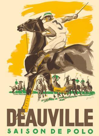 Deauville Saison De Polo (Polo Season) - Normandy, France by Michel Jacquot
