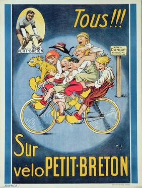 Everyone on the Petit-Breton Bike', Advertisement for a Bicycle by Michel Liebeaux
