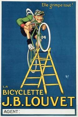 'It'Ll Climb Anything', Advertisement for the J.B. Louvet Bicycle by Michel Liebeaux
